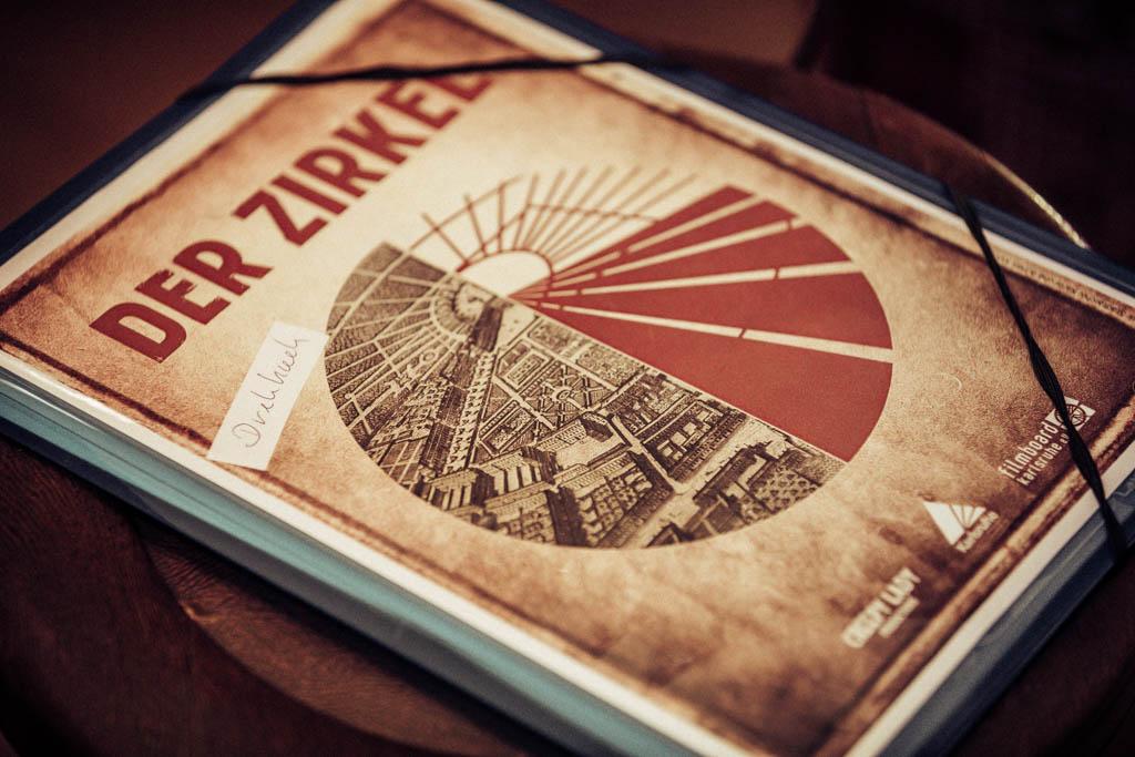 Der Zirkel Mystery-Serie Karlsruhe Setfoto Filmdreh