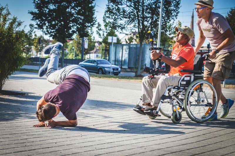 Business-Reportage Unternehmensfotograf Karlsruhe Filmteam in Aktion